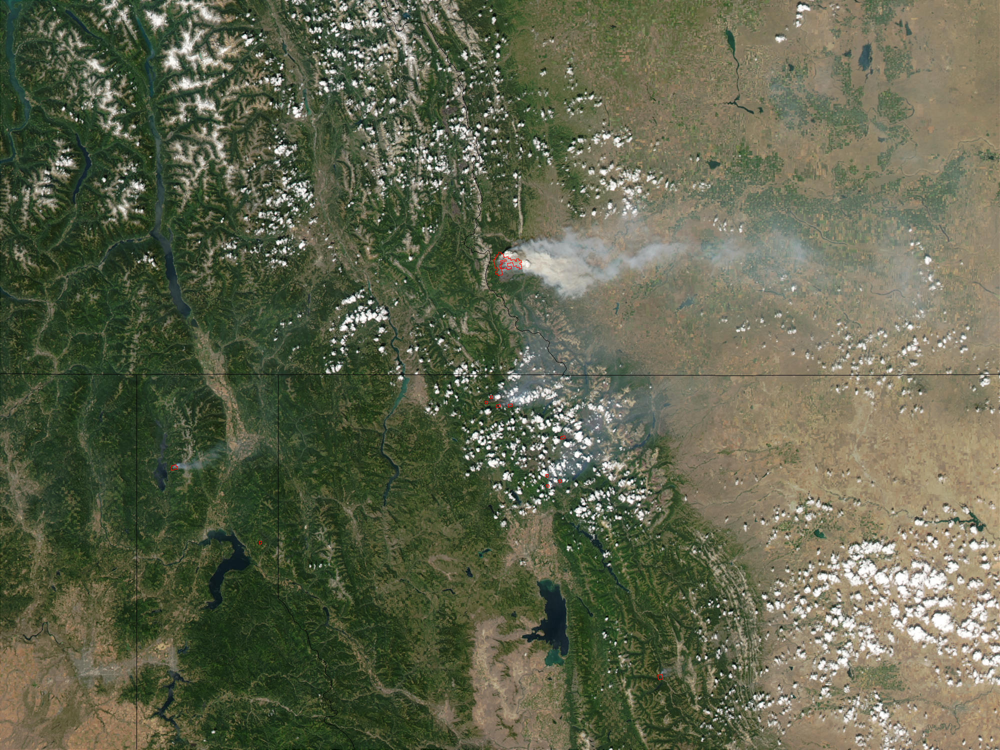 Fires in Montana and Alberta: Natural Hazards