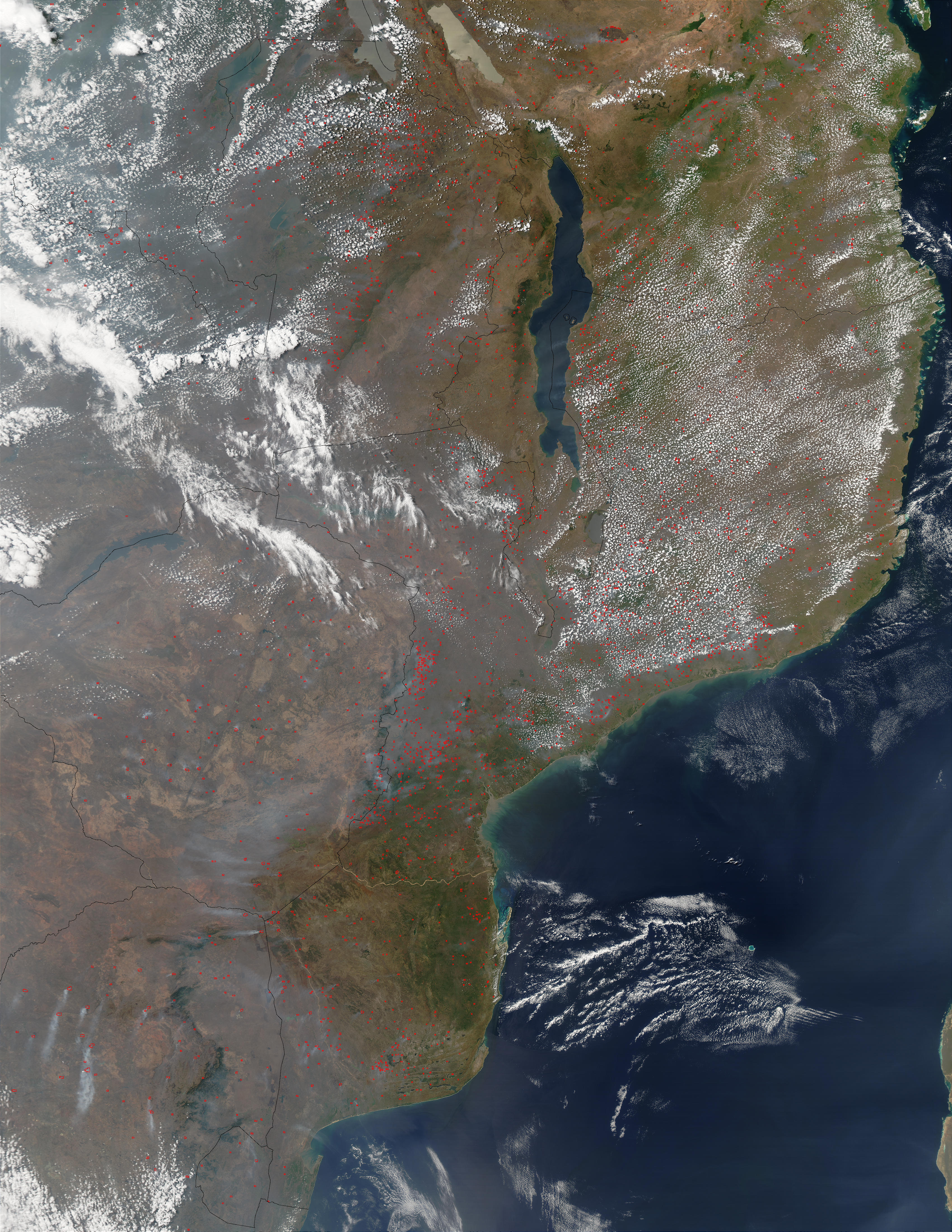 Fires in Central and Southern Africa: Natural Hazards