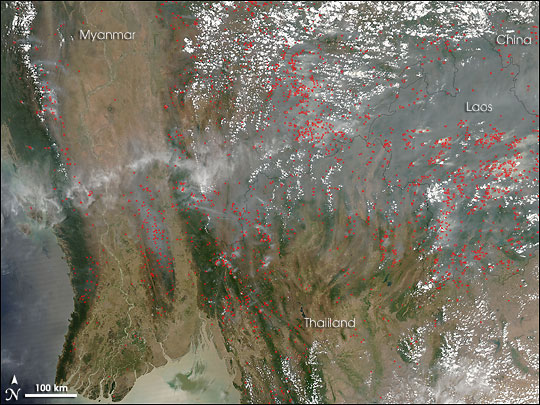 Widespread Fires in Southeast Asia : Image of the Day