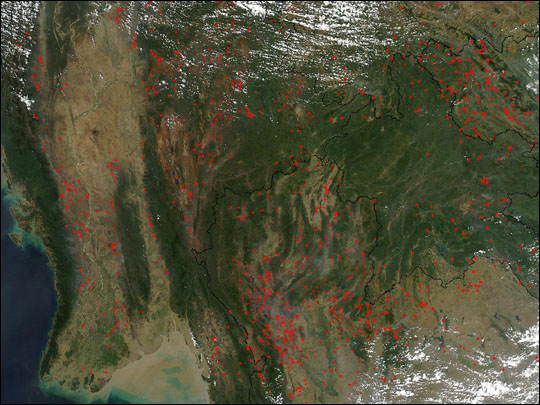 Fires in Southeast Asia: Natural Hazards